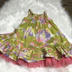 Cherokee girls dress with tulle underskirt.